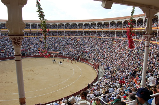 Bullfighting is campaigned against by aggressive minorities
